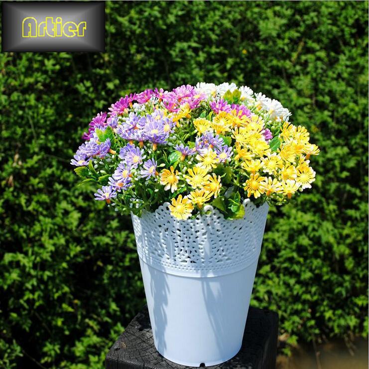Simulation flower artificial flower plastic flower simulation daisy sunny daisy AX1106(China (Mainland))