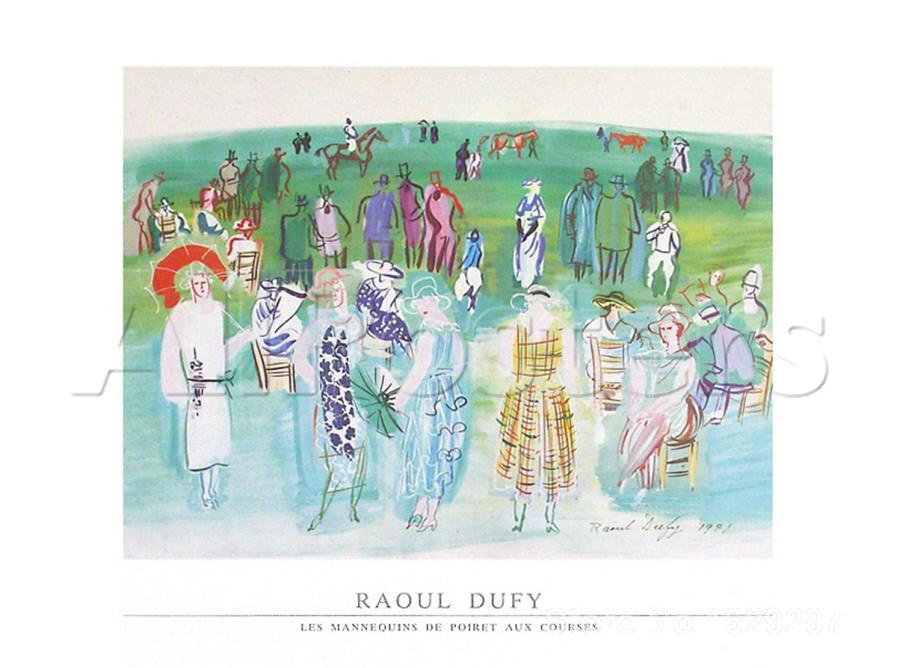 Modern painting on canvas,Mannequins de Poiret aux Cours-Raoul Dufy,High quality,Hand-painted(China (Mainland))