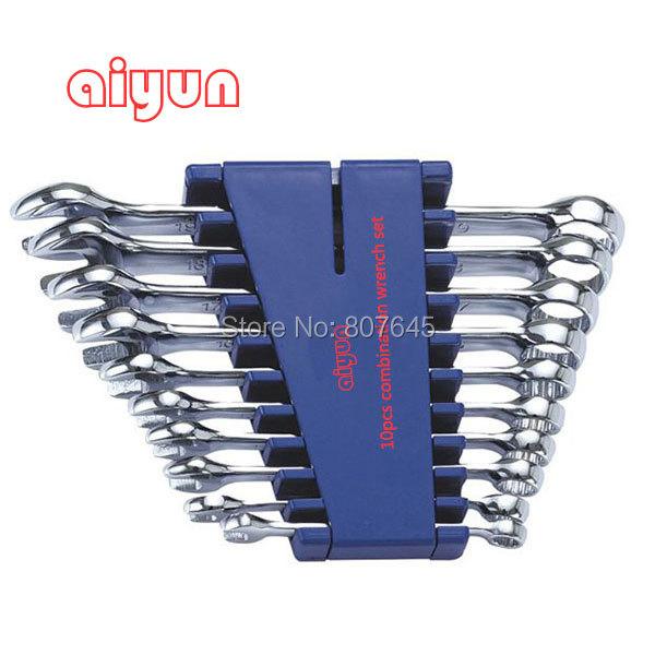 10pcs/set  combination Wrench set (Metric)  combination spanner set<br><br>Aliexpress