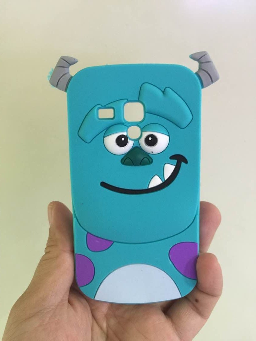 Samsung Galaxy Trend Plus S Duos 7562 S7580 S7560 3D Cartoon Sulley Cover Soft Silicone Back Skin Case - Rose Angel store