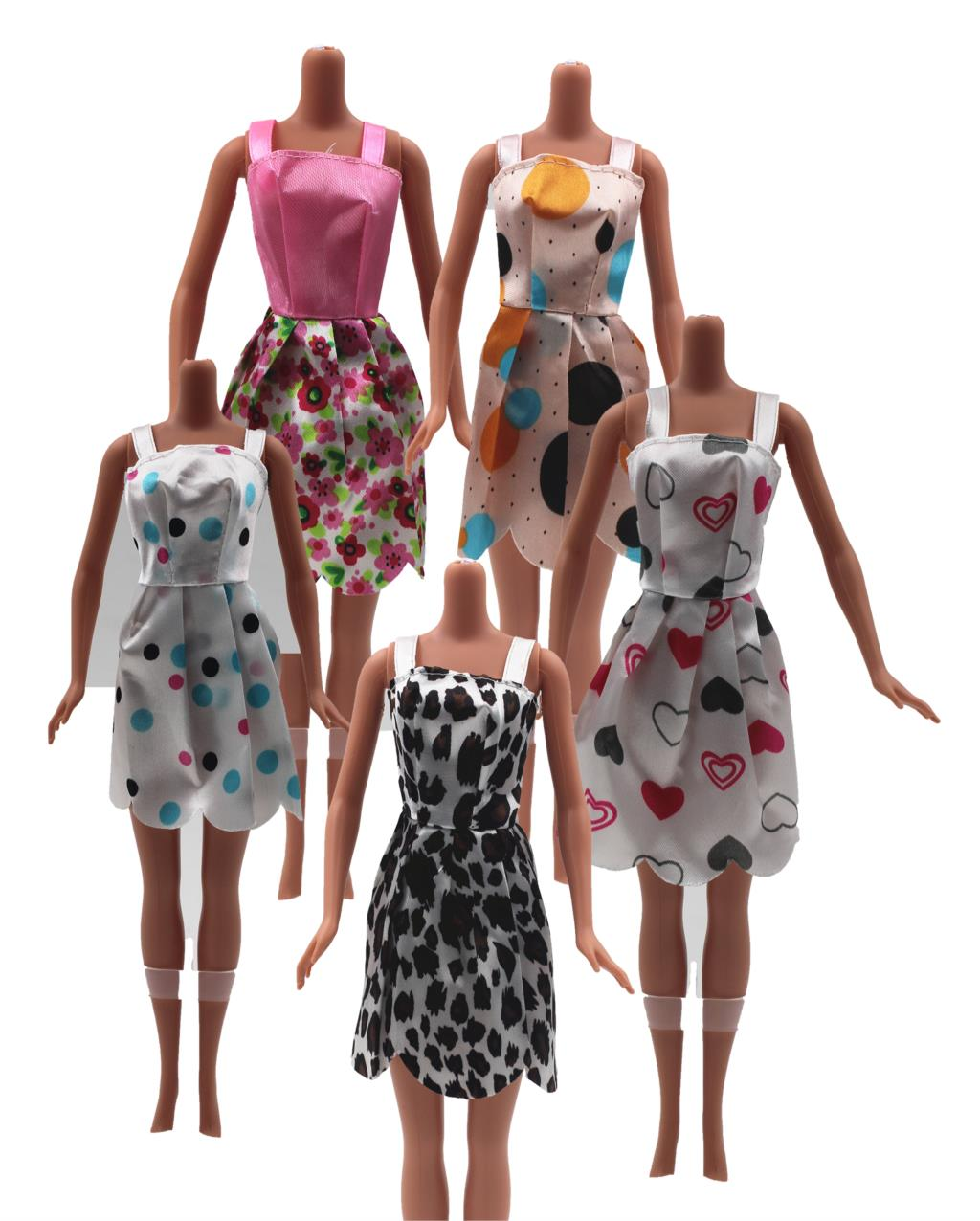 Scorching One Set=5 Pcs Combine Kinds Latest Stunning Handmade Social gathering Garments Style Costume For Barbie Doll Finest Present Toys 5SD-015-Y