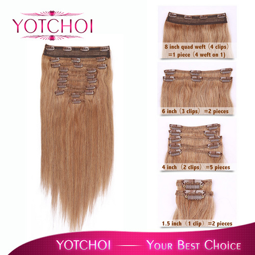 Yotchoi 100 HUMAN HAIR DISTRIBUTOR CLIP ON hair products factory price 10pcs wefts clip in hair extensions brazilian virgin hair(China (Mainland))