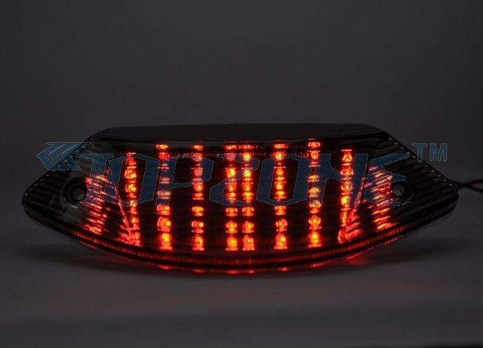 SMOKED Lens LED Motorcycle Tail Light Brake Light For HONDA CB600/900 HORNET / 599 / 919 02-07(China (Mainland))