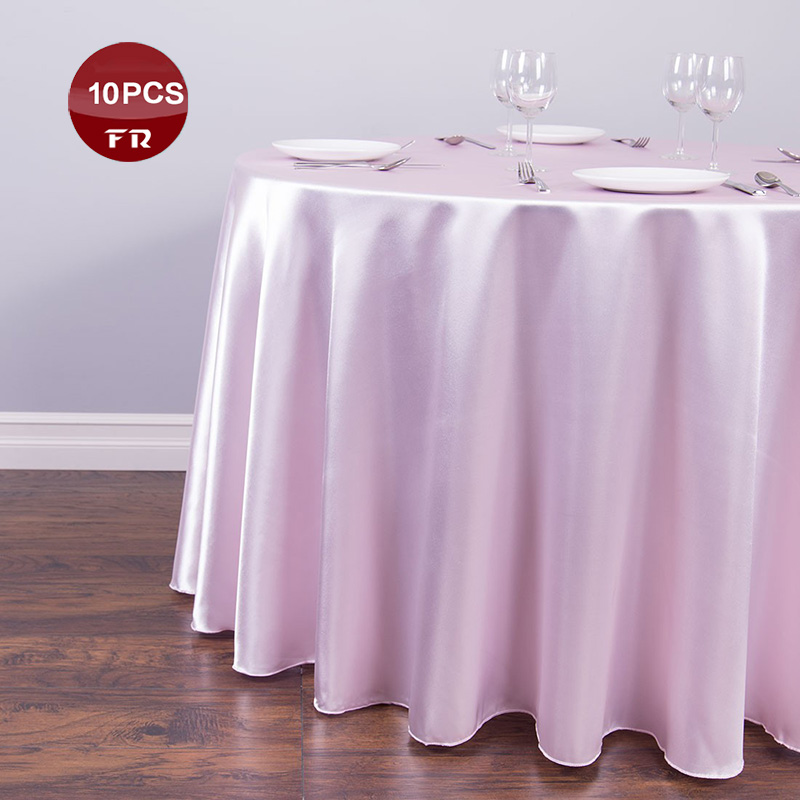 """10PC 120"""" Polyester Tablecloth Round Party Table Covers Satin Table Cloth Wedding Table Decoration Banquet Hotel Home Tablecloth(China (Mainland))"""