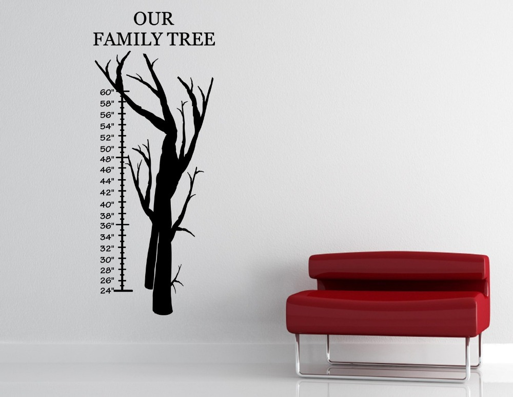 Sentiments Tree Wall Decor : Our family tree vinyl wall quotes sayings words lettering