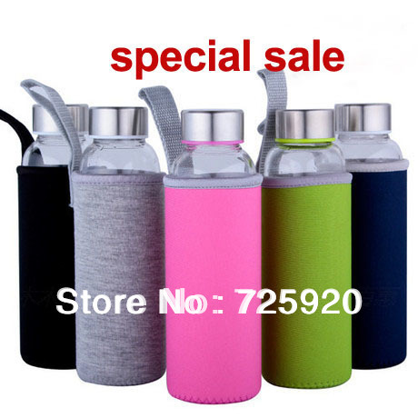 new arrival high temperature resistant glass sport or mineral water bottle 550ml special sale(China (Mainland))