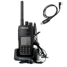 DMR Radio Digital Walkie Talkie Retevis RT3 UHF 400-480MHz 5W 1000CH Mobile VOX Ham Hf Transceiver A9110A - RETEVIS offical Store store