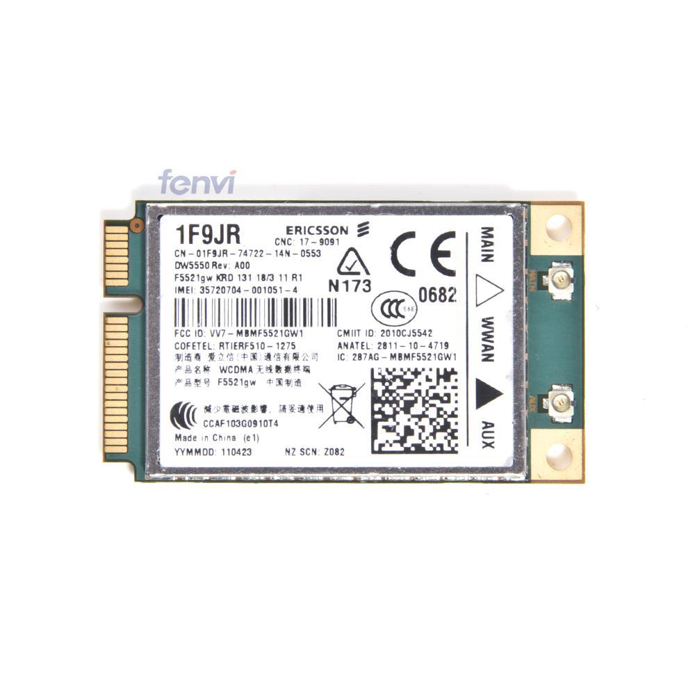 Unlocked DW5550 Ericsson F5521gw Wireless 3G WWAN WCDMA HSPA GSM GPRS Mobile Broadband GPS PCI-E Card for Dell E5420 5520 6220(China (Mainland))