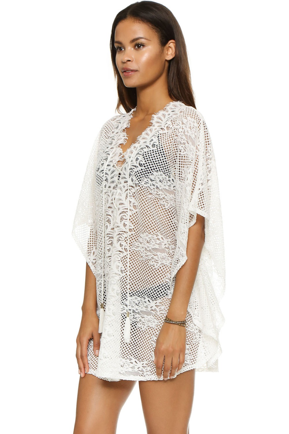 buy sexy women white strap lace crochet patchwork beach maxi dress at banggood