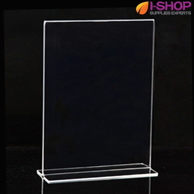 A3 T Shape Stand up Sign Holder Picture Frame Portrait Counter Display 279x420mm PT1-04(China (Mainland))
