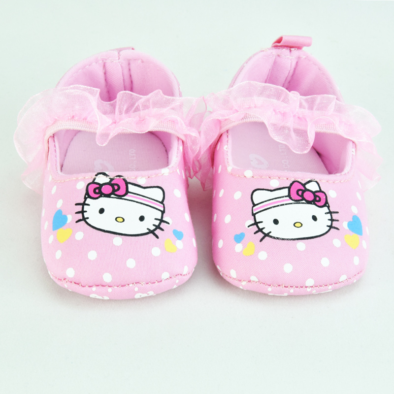 Infant Newborn Baby Shoes Girls Hello Kitty First Walkers ...