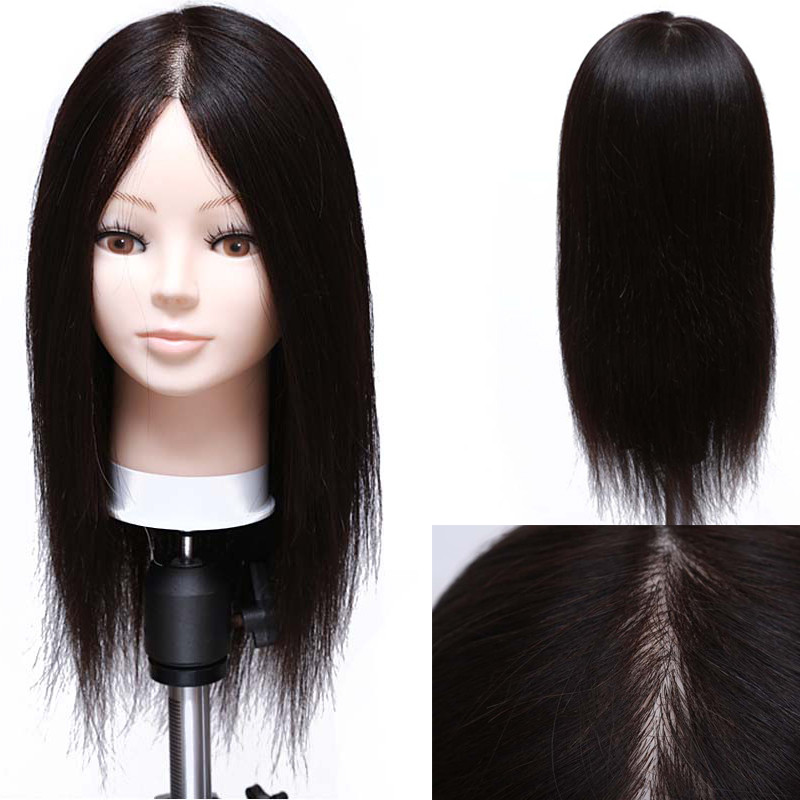 Hot Sale 16″ Mannequin Head For Hairdresser Wig Manik Hairdressing Dummy Doll Heads Human Hair Styling Mannequins Training
