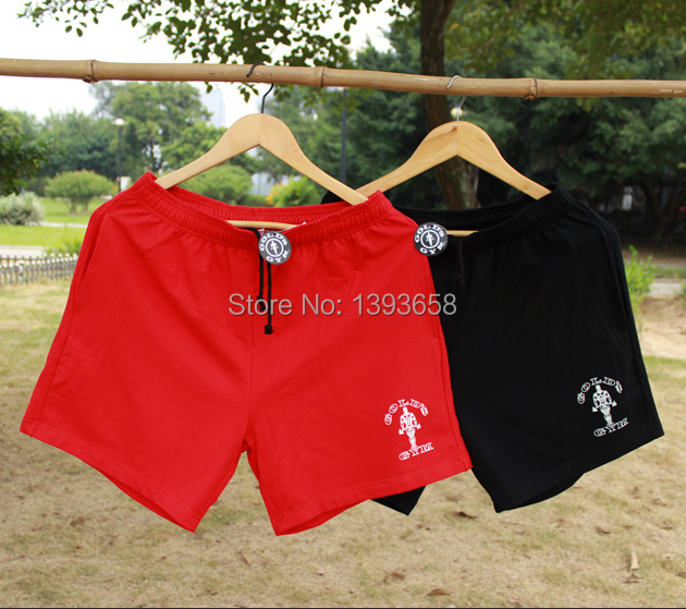 2014 Bodybuilding Short Gym 5 Inseam Shorts Fitness Workout Clothes Casual Muscle Wear Cotton Weight Lifting For Men & Boys(China (Mainland))