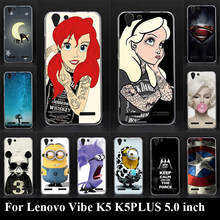 """Buy Case Lenovo Vibe K5 K5 PLUS A6020a40 Lemon 3 5.0""""Hard Colorful Printing Drawing Plastic Mobile Phone Cover Hard Phone Cases for $1.24 in AliExpress store"""