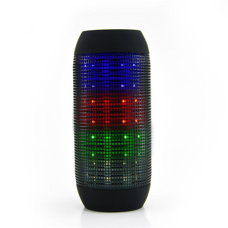 tanabilir darbe bluetooth hoparlr renkli iklar renkli led iklar altavoz destek u disck ve tf - Laser Colorant Puls