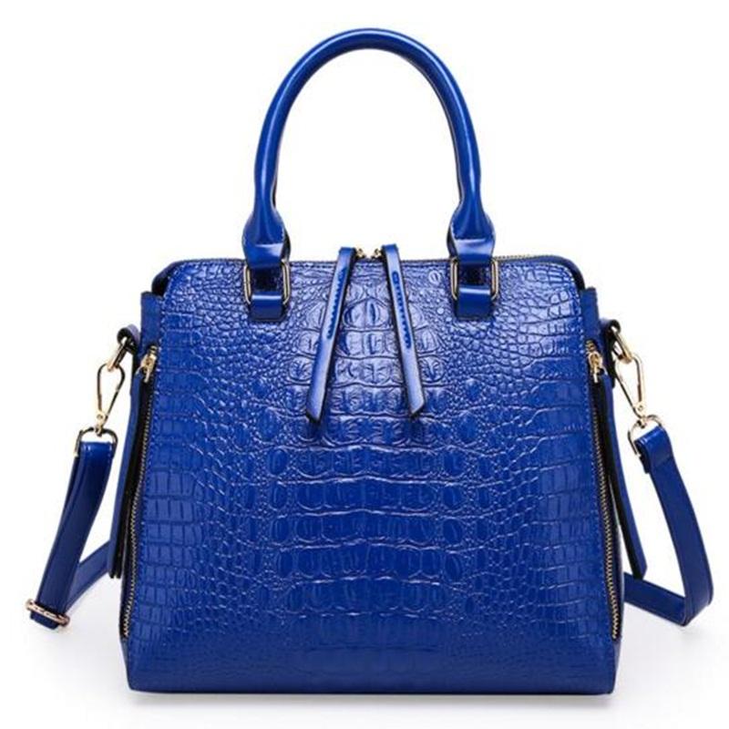 Women Brand Crocodile Leather Handbags Luxury Alligator Large Black Shell Bags Ladies Messenger  Shoulder Bag  Bolsos Mujer 2016