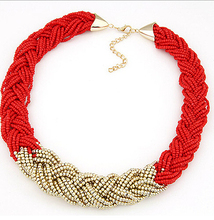 Fashion Short Temperament Of Bohemia Bead Necklace Sweater Chain Fashion Jewelry Wholesale X116