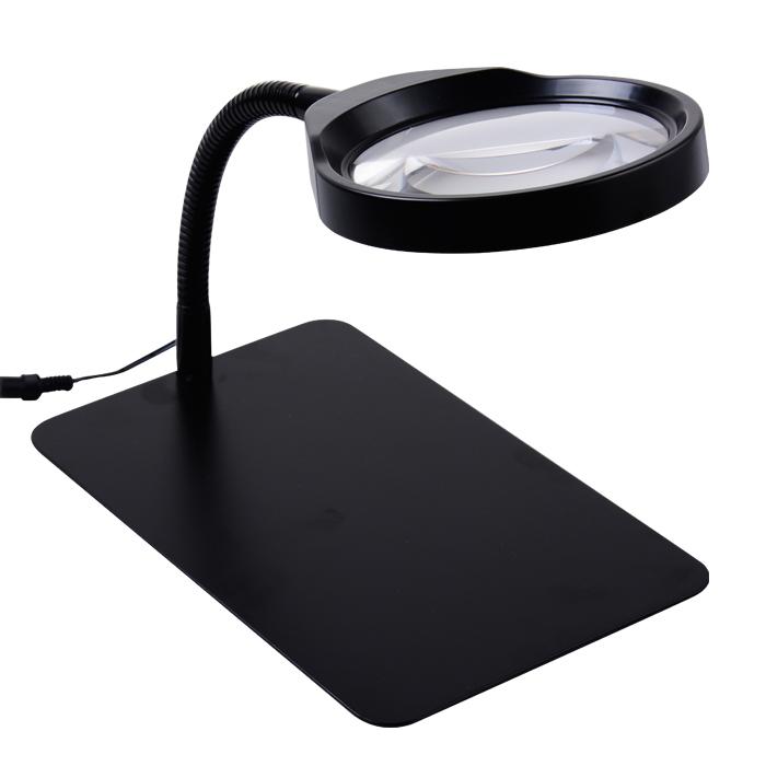 Здесь можно купить  Desktop magnifier Desk lamp magnifying glass Reading Repair QC inspection 10 times the HD 125mm mirror Light is adjustable.  Инструменты