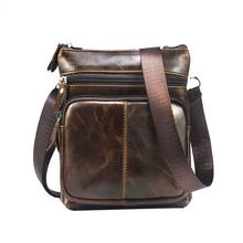 Buy 2017 New Fashion Brand Mini Bags Men's Vintage Genuine Leather Messenger Bag Men Male Cowhide Shoulder Crossbody for $18.42 in AliExpress store