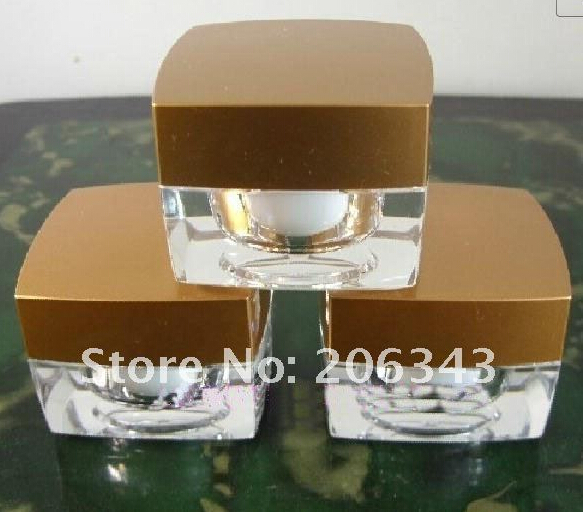 5g ACRYLIC GOLD cream bottle,cosmetic container,,cream jar,Cosmetic Jar,Cosmetic Packaging<br><br>Aliexpress