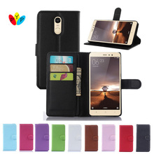 Hot Selling Wallet Style PU Leather Case for Xiaomi Redmi Note 3 with Stand Function and Card Holder(China (Mainland))