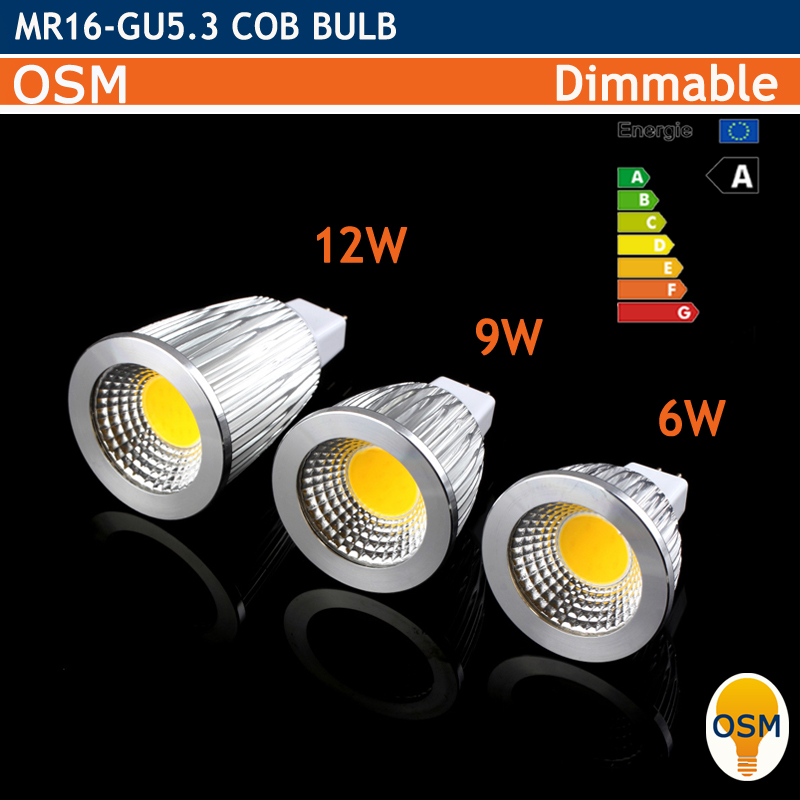 Led MR16 GU5.3 220V 12V 3W 6w 9w 12w Dimmable Led Cob Spotlight Warm Cool White MR 16 Bulb Lamp GU 5.3 220V Power Lampada(China (Mainland))
