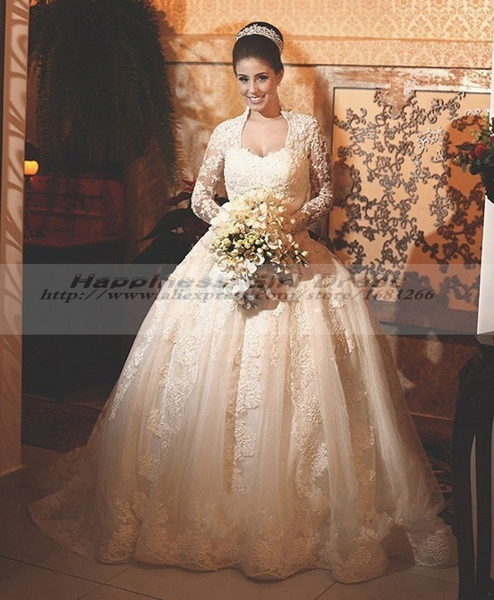 Vestidos de novia 2015 princesa vintage elegant long for Pnina tornai wedding dresses prices