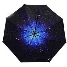 Мужской складной Быстросохнущий Зонт parapluie ветростойкий Зонт женский Автоматический складной компаньон Солнечный и дождевой Зонт оптом(China)