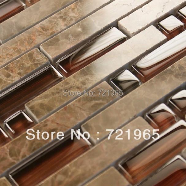 Design deco glass mosaic kitchen backsplash wall tiles SGMT022 stone glass mosaic backsplash tiles polished glass mosaic tile