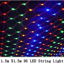 1.5mx1.5m 96 Led 8 modes 220V super bright net mesh string light xmas christmas lights new year garden wedding holiday lighting(China (Mainland))