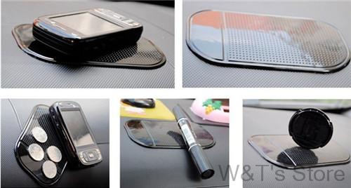 Mobile phone pad car Styling Powerful Silica Gel Magic Sticky Pad Anti Slip Mat for Phone