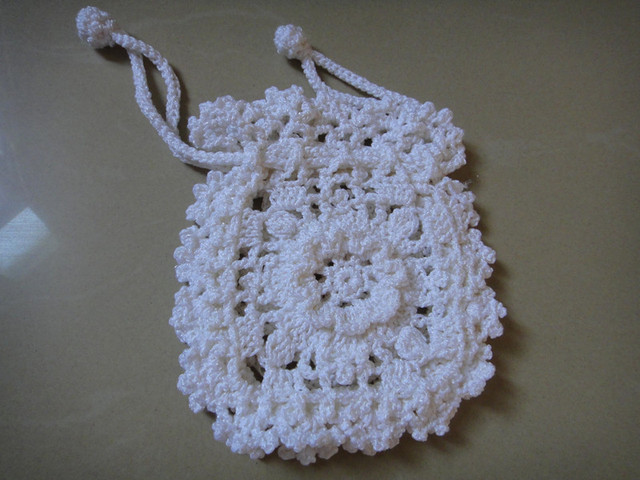 Crochet Baby Purse : hand made crochet change purse crochet baby handbag pulling rope bag ...