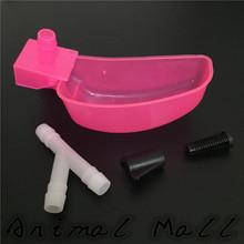 20 sets chinos productos de la patente Waterer codorniz pájaro pollo alimentador Waterer rosa tazas de agua amarilla tazón modelos calientes(China (Mainland))