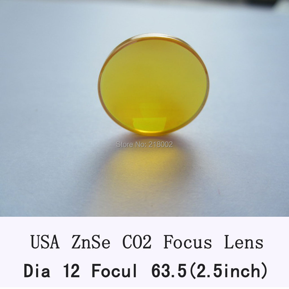 "Freeshipping HQ USA Co2 Laser Lens 12mm Diameter 63.5/2.5"" Focus Length For Laser Engraver and Cutting Machine(China (Mainland))"