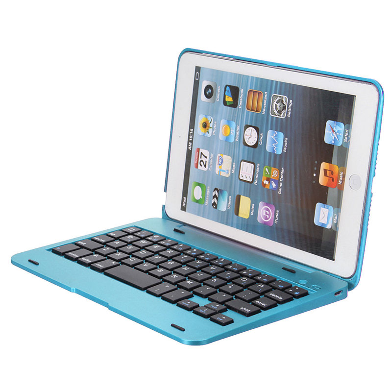 New Design 5 colors Dustproof 2 in1 Bluetooth 3.0 Wireless Keyboard Foldable Case Stand Cover Holder for iPad Mini 1 2 3(China (Mainland))
