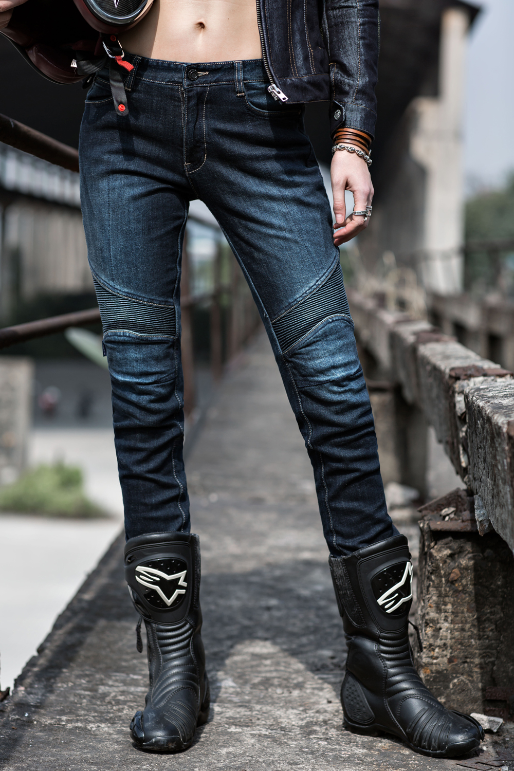 Фотография 2016 new uglyBROS 03 jeans / motorcycle riding jeans / lady jeans fashion personality