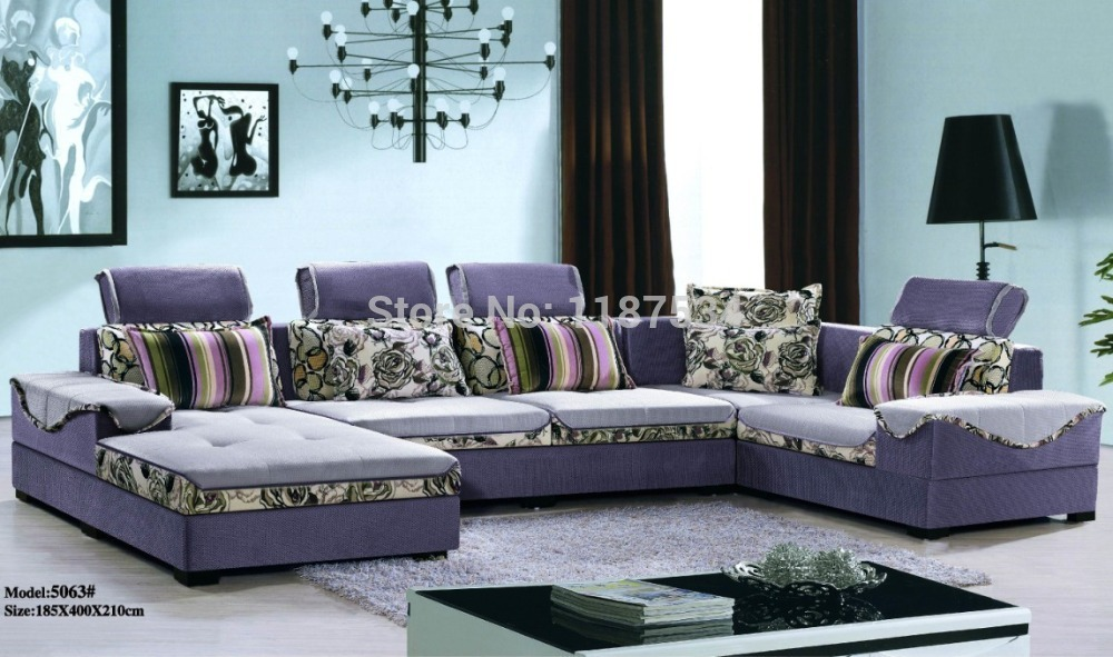 5063 Home Furniture Living Room Sofa Sets Fabric Corner Sofa Set In Living Room Sofas From