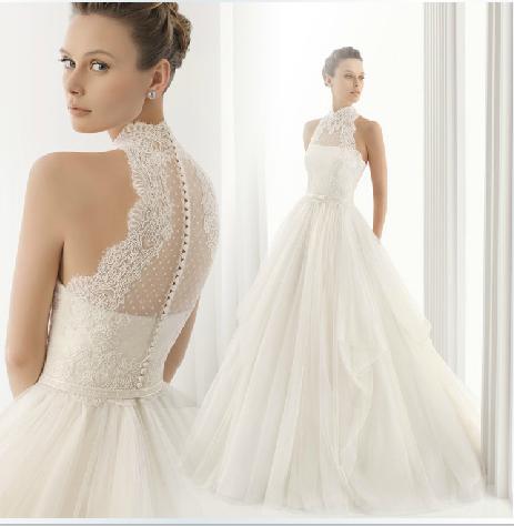 2015 new arrival yarn turtleneck elegant halter neck lace for Long sleeve turtleneck wedding dress