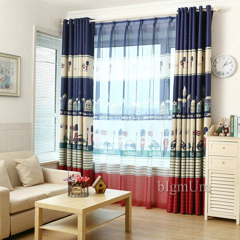 cartoon knight printed boy curtain blackout curtains for the baby room window curtains for living room - Blackout Shades Baby Room