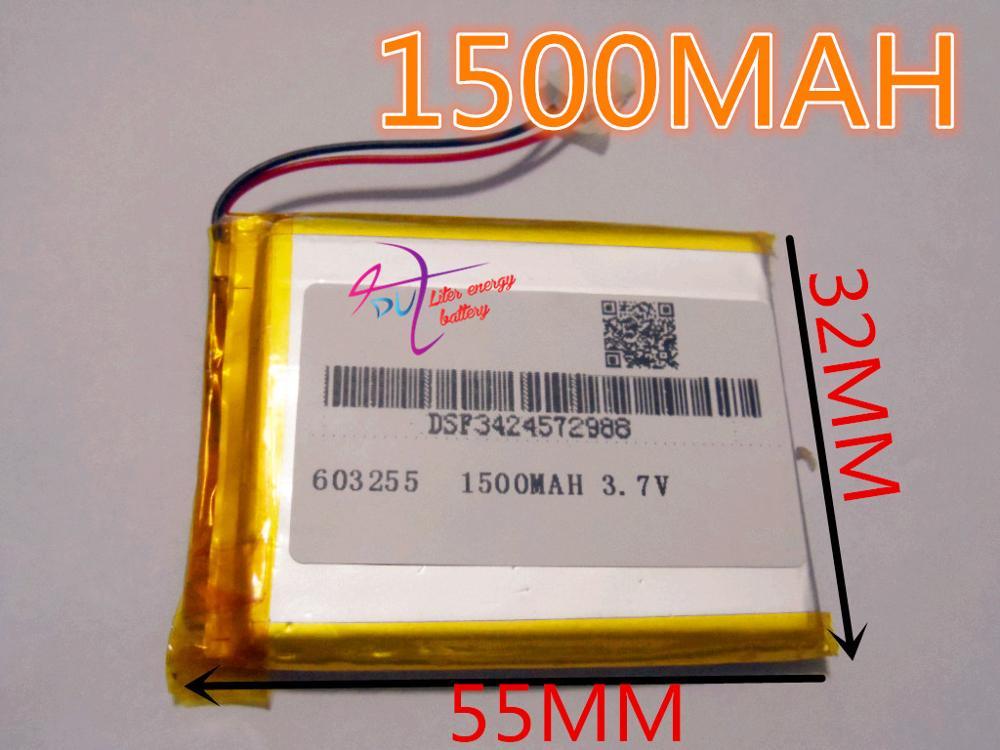 best battery brand Free shipping 3.7V,1500mAH,[603255] PLIB; polymer lithium ion / Li-ion battery for dvr,GPS,mp3,mp4,cell phone(China (Mainland))