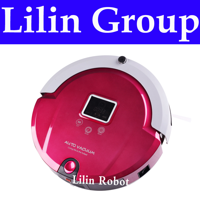 4 In 1 Multifunctional Floor Cleaning Robot (Sweep,Vacuum,Mop,Sterilize),LCD,Touch Button,Schedule Work,Virtual Wall,Auto Charge(China (Mainland))
