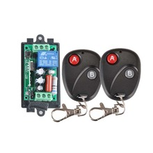 Receiver&2Transmitter 220V 1CH RF Wireless Remote Switch Light Lamp LED SMD ON OFF Switch Wireless 10A Momenrary Toggle Latched(China (Mainland))