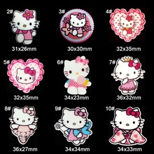 90pcs/Lot Cute Hello Kitty Bow Planar Resin Cabochons Flatback Ribbon Bow Cabochons Hair Bow Center Frame Card Making Craft(China (Mainland))