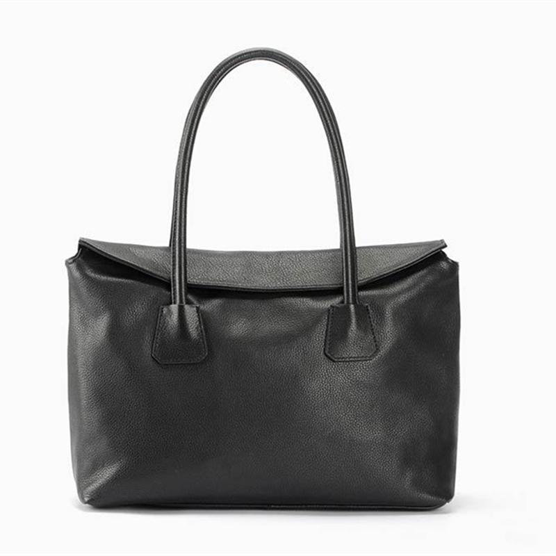 Фотография Women Leather Handbag Fashion Design Black Lady Bag Genuine Leather Womens Shoulder Bag Satchel Cross Body Casual Tote 2016 New