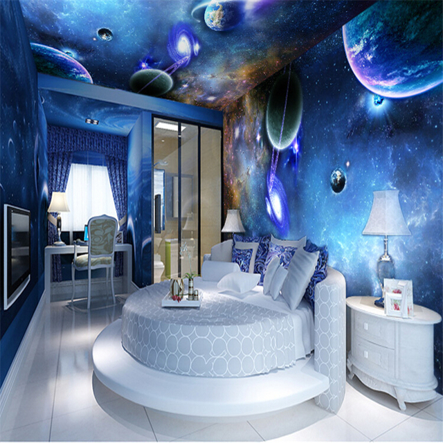 plafond de grande toile peintures murales 3d en trois dimensions salon chambre de toit peint. Black Bedroom Furniture Sets. Home Design Ideas