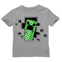 Creeper Short Sleeve Boys T Shirts minecraft Summer Cartoon T-Shirt Kid Baby Children T Shirt Roupas Infantis Menino for 2-14T(China (Mainland))