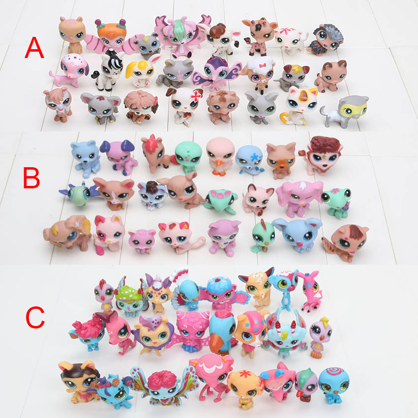 New Arrival 24 pcs/set LPS Littlest Pet Shop toys Cute Animals Q Pet Shop Action Figure Collection Models toys(China (Mainland))