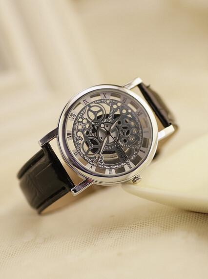 Best Selling Men Sports Military Watches Leather Boyfriend Gift Fashion Quartz Wristwatch Casual Round Dial