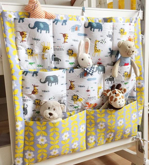 Детская кроватка висит сумка для хранения хлопка новорожденных кроватки организатор ...