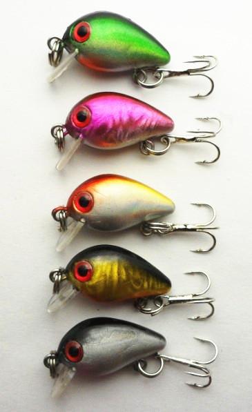 hot selling 3cm 1 5grams 5colors hooks 10 font b fishing b font lure hard lures